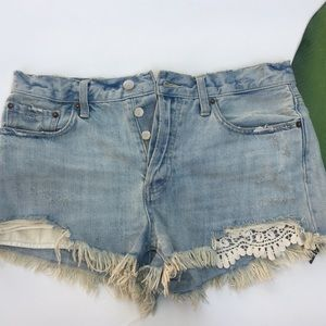 WE THE FREE | FREE PEOPLE | DISTRESSED SHORTS